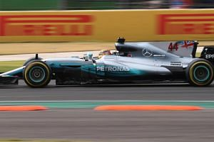 Mercedes' Lewis Hamilton during the race at the Mexican Grand Prix 2017 in Mexico City on Oct 29, 2017.