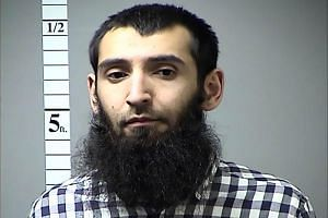 This handout photograph from the St. Charles County Police Department shows Saifullah Saipov, the suspected truck driver who killed eight people in Manhattan, on Oct 31, 2017.