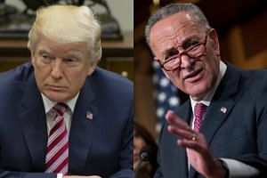 US President Donald Trump singled out Senator Chuck Schumer (right), the state's senior lawmaker and the party's leader, in the upper chamber.