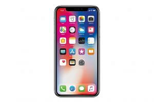 iPhone X users only need to swipe up from the display's bottom to get to the Home screen (right). The TrueDepth camera enables animated emoji, or Animoji, as it captures over 50 different facial muscle movements to animate those expressions in the An
