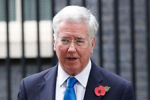 Michael Fallon (above) has resigned as Defence Secretary, a Downing Street spokesman said.