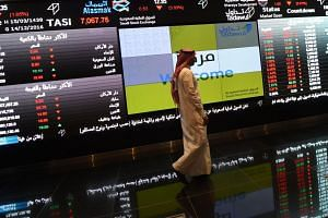 The Saudi equities index was down 1.0 per cent after 25 minutes of trade as declining stocks overwhelmed advancers by 155 to 15.