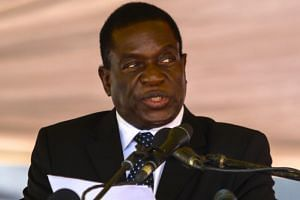 Emmerson Mnangagwa (pictured) has been heavily criticised by supporters of Mugabe's wife, Grace, who has also been touted as a potential successor to her husband.