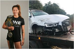 Mixed martial arts fighter Angela Lee was involved in a car accident in Hawai and will not be able to compete in her rematch against Japan's Mei Yamaguchi.