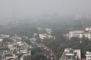 The Delhi government has said children and the elderly should avoid going outdoors as much as possible as air quality reached severe levels for the second day in a row.