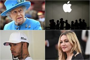(Clockwise, from top left) Queen Elizabeth II, Apple, Madonna and Lewis Hamilton are just a few of the big names and companies revealed in the Paradise Papers leak.