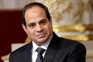 Egyptian President Abdel Fattah al-Sisi said on Nov 8 he was against military strikes on Iran or the Teheran-backed Lebanese group Hezbollah, saying there was enough turmoil in the Middle East.