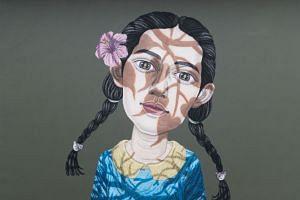 Thai artist Sukit Choosri's striking portrait of a young woman.