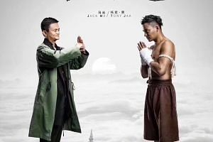 Jack Ma (left) will showcase his martial arts prowess with action stars such as Tony Jaa (right) in the movie Gong Shou Dao.