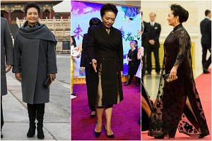 Ms Peng Liyuan, who is noted in China for her style, has looked every bit as put-together as United States First Lady Melania Trump, if not more.
