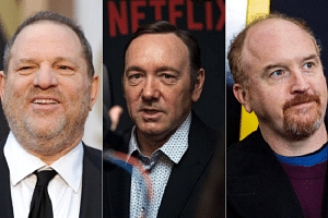 Among the list of those in the entertainment industry accused with sexual advances are (from left) Harvey Weinstein, Kevin Spacey and Louis C.K.