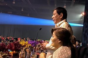 At the request of US President Donald Trump, President Rodrigo Duterte took to the stage to croon the hit song Ikaw with one of the performers, singer Pilita Corrales.