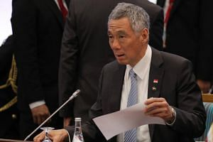 Prime Minister Lee Hsien Loong attends the opening session of the 31th Association of Southeast Asian Nations (Asean) Summit in Manila on Nov 13, 2017.