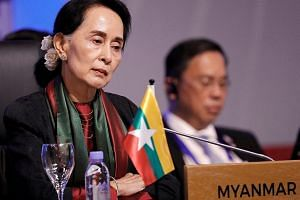 On the Rohingya issue, supporters of Myanmar leader Aung San Suu Kyi say she must navigate a path between outrage abroad and popular sentiment in a Buddhist-majority country.