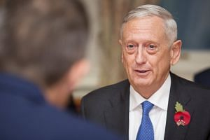 Mattis (above) said the US military was closely watching why there had been no missile launches recently.