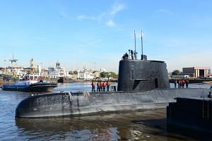 An undated handout photo made available by the Argentine Navy on Nov 17, 2017 shows the ARA San Juan submarine.