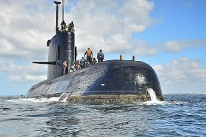 Submarine ARA San Juan in Buenos Aires in an undated photo. The vessel, which was conducting a routine security patrol off Patagonia with 44 crew members, last made radio contact last Wednesday. The Argentine navy is handling the issue as a loss of c