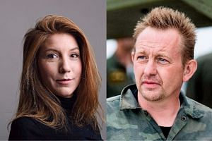 Kim Wall (left) vanished after interviewing Danish inventor Peter Madsen (right) on board his homemade submarine on Aug 10.