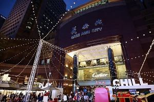 The Christmas Village, launched yesterday at Ngee Ann City Civic Plaza, features 25 brands and will be on for a month from today.