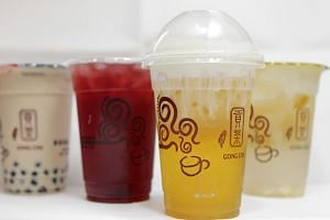 A variety of drinks from Gong Cha.