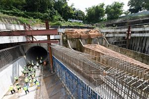 Drains and canals in 75 locations are currently being expanded including the Bukit Timah First Diversion Canal (one of its new tunnels is pictured here), which runs from Bukit Timah Road near Sixth Avenue to Clementi Road.