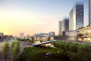 Artist's impression of Singapore-Hangzhou Science & Technology Park in Hangzhou, China.