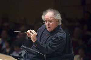 Conductor James Levine leads the Metropolitan Opera Orchestra at Carnegie Hall in New York, on May 18, 2016.
