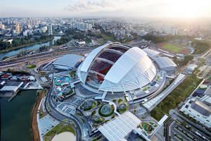 The Sports Hub in Kallang is home to the Singapore's largest arena - the 55,000-seater National Stadium.