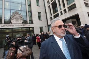 Vijay Mallya arrives at Westminster Magistrates Court in London, Britain, on Dec 4, 2017.
