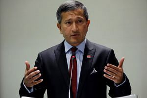 Foreign Minister Vivian Balakrishnan speaking at a lecture titled Asean: Next 50 at the ISEAS-Yusof Ishak Institute in Singapore, on Dec 5.