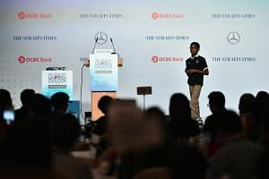 "Cyber whizz-kid Reuben Paul demonstrated how easily devices connected to the ""Internet of Things"" can be hacked, at the ST Global Outlook Forum 2018 held at the Ritz Carlton."
