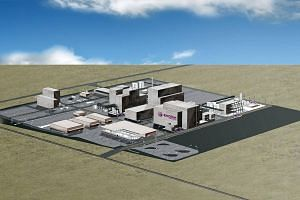 Artist's impression of the manufacturing complex to be set up by Evonik Industries.