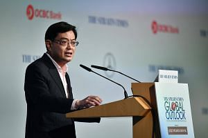 Finance Minister Heng Swee Keat at The Straits Times Global Outlook Forum 2018 on Dec 5, 2017.