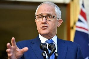 Australian Prime Minister Malcolm Turnbull speaks at a news conference at Parliament House in Canberra.