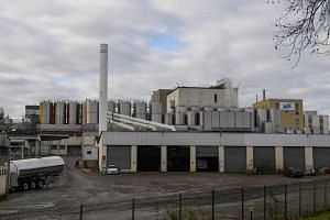 The Celia dairy company's infant milk factory that belongs to the LNS Lactalis group in Craon, France. Authorities have withdrawn and recalled several batches of infant milk made in this plant, that were contaminated with salmonella bacteria.