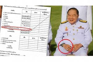 The timepiece worn by Thailand's deputy prime minister and defence minister General Prawit Wongsuwan looked similar to a model by Richard Mille, which would have cost between 4 million baht (S$165,200) and 10 million baht (S$413,000).