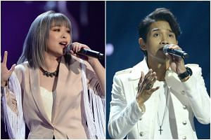 Cherelle Tan and Isaac Ong have made it to the final eight in the local edition of The Voice.