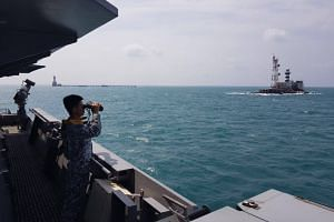 Authorities from Singapore, Indonesia and Malaysia are coordinating search and rescue efforts to look for the two men, Defence Minister Ng Eng Hen said in a Facebook post.