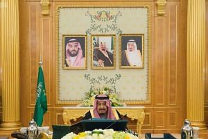 Saudi Arabia's King Salman presides over a cabinet meeting in Riyadh on Dec 12, 2017.