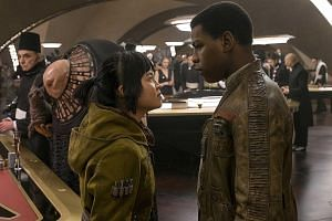 Mark Hamill plays the crusty old master in The Last Jedi. Kelly Marie Tran and John Boyega (both left) in The Last Jedi as engineer Rose and former stormtrooper Finn, who have to pull a heist on a resort planet.
