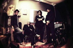 Singapore guitarist and songwriter Addy Cradle will perform at Sultangate. Singapore fusion band Veda9 include (from left) Bladey Blues, Idrus Rashid, Romey Helven and Omar Ally.
