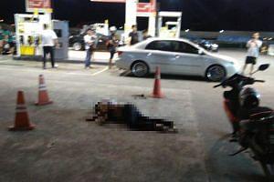 A motorist was murdered on Dec 17, 2017, at a Shell petrol station in Jalan Sri Pelangi in Taman Pelangi.