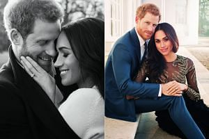 Britain's Prince Harry and his American fiancee Meghan Markle have released two official engagement photos taken by New York-based fashion photographer Alexi Lubomirski.