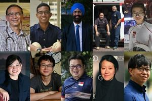 (Top row, from left) Dr Goh Wei Leong, Muhammad Luqman Abdul Rahman, Mr Satwant Singh, Mr Mohamad Fuad Abdul Aziz and Mr Syed Abdillah Alhabshee, and Kyra Poh. (Bottom row, from left) Ms Qin Yunquan, Mr Sonny Liew, Mr Jason Chee, Ms Kirsten Tan and M
