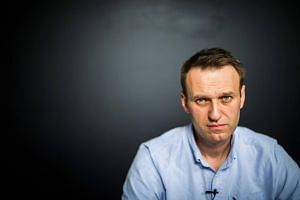 Russian opposition leader Alexei Navalny in his office in Moscow, shortly after being released from jail on July 7, 2017.
