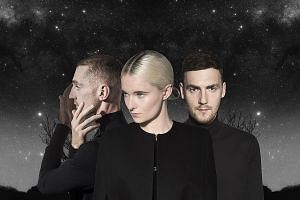 Clean Bandit comprise (from far left) Luke Patterson, Grace Chatto and Jack Patterson.