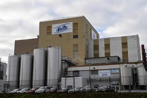 The Celia dairy company's infant milk factory that belongs to the LNS Lactalis group in Craon, western France on Dec 4, 2017.