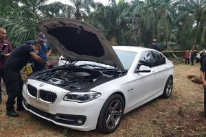 Police have recovered the white BMW vehicle that was used in the brutal murder of a 44-year-old man at a Johor Baru petrol station.