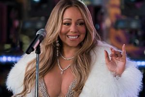 Singer Mariah Carey performs during New Year's Eve celebrations in Times Square.