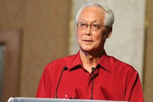 File photo of Goh Chok Tong, Emeritus Senior Minister and MP for Marine Parade GRC, speaking at his constituency's National Day dinner at Swissotel the Stamford.
